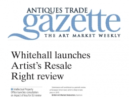 Whitehall launches Artist's Resale Right review – Antiques Trade Gazette – April 15th 2014