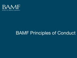 BAMF Principles of Conduct